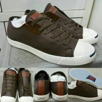 Sepatu Kets Sneakers Converse All Star Jack Purcell Leather Low Brown