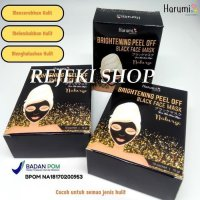 HARUMI BRIGHTENING PEEL OFF BLACK FACE MASK BPOM