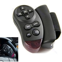 Steering Wheel Universal IR Remote Control For Car CD / DVD / TV / MP3 - Black