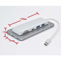 CONVERTER USB C TO CARD READER HUB 3.0 TF MICRO SD 5 IN 1 NEW MACBOOK