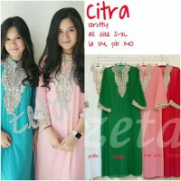 Dijual Kaftan Dress Muslim Bordir Payet ABL Citra Limited