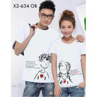 Baju Couple Oblong Sayang Putih 9163