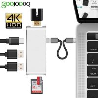 CONVERTER USB C TO CARD READER HUB HDMI MICRO SD 6IN 1 ADAPTER MACBOOK