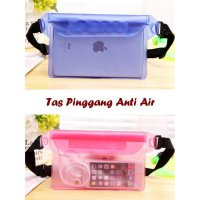 Tas Pinggang Anti air (3 lapis seal, anti air, muat hp, tablet, dompet