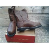 Original Red Wing Shoes Safety 8241 Mens 8-inch Pull-On Boot Brown