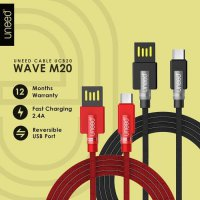 UNEED Wave M20 Kabel Data Micro USB Android Fast Charging 2.4A UCB20M