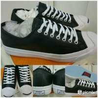 Sepatu Skate Converse All Star Jack Purcell Leather Low Black