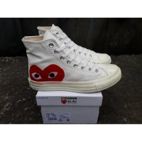 Sepatu Converse All Star 70s HI CDG Play White Premium Original BNIB