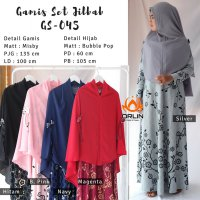 ORLIN GS-045 GAMIS SET KHIMAR BAHAN MISBY ALL SIZE BY INDOHIJAB GROSIR
