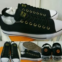 Sepatu Converse All Star Buttonback Canvas Low Blackwhite