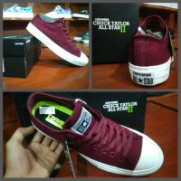 Sepatu Converse CT Chuck Taylor All Star Maroon white Grade Original