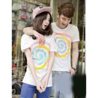 Baju Couple Oblong Lolipop Putih