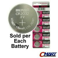 Maxell CR2032 3 Volt Coin Lithium Cell Battery - MXL-CR2032