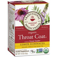 [macyskorea] Traditional Medicinals Organic Throat Coat Lemon Echinacea Tea, 16 Tea Bags (/4348232