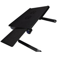 Multi Functional Laptop Table with USB Fan - T8 - Black