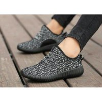 SLIP ON TALI ADS YEEZY CORAK HITAM SOLID
