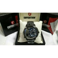 JAM TANGAN EXPEDITION E6736 FULL BLACK LIST BLUE. GARANSI RESMI 1TAHUN