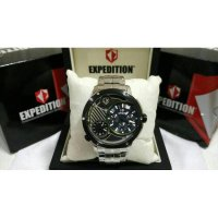 JAM TANGAN EXPEDITION E6736 SILVER BLACK LIST GREEN ORIGINAL