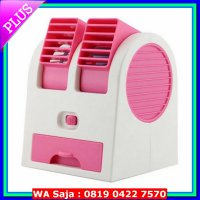 Kipas [FAN] NEW ARRIVAL AC Duduk Mini Portable - Double Blower Mini AC Kipas Angin