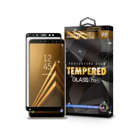 Tempered Glass SAMSUNG Galaxy A8 Full Cover Black - Premium Glass Pro