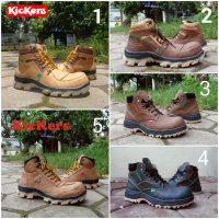 Sepatu Kickers Boots Safety Pria Build Up Series