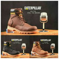 Sepatu Caterpillar Holton Steel Toe Brown Safety