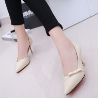 HIGH HEELS PUMP|SEPATU HEELS BACK STUD|PANTOFEL TB-DX CREAM