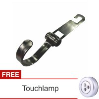 Lanjarjaya Stainless Steel Car Hanger Aksesoris Gantungan kursi jok Single kait di Mobil+Touch Lamp