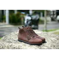 Sepatu Boot Kulit asli Bradleys Anubis Original Brown, Black Tan