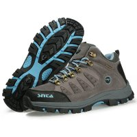 Sepatu Boot Gunung/Hiking/Outdoor Wanita - SNTA 607 Grey Waterproof