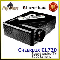 Cheerlux CL720 HD Projector Portable LED 3000 Lumens TV Nobar Bola
