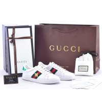 Sepatu Cewek Gucci Sneaker Ace Embroidered Leather Bee Putih MIRROR O