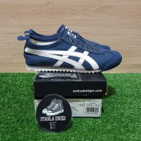 ONITSUKA TIGER MEXICO 66 SLIP ON CV SNEAKERS NAVY WHITE BNIB - Biru, 39