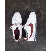 Nike Classic Cortez PRM QS Leather Forest Gump White and Varsity Red