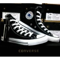 Sepatu Converse All Star High hitam + Box