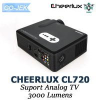 Cheerlux CL720 HD LED 3000 Lumens Mini Proyektor Projector