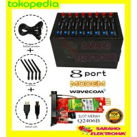 MODEM POOL 8 PORT USB MODUL WAVECOM Q2406B TOMBOL BIRU
