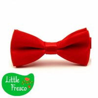 Little Fresco Dasi Kupu BowTie Slim Polos Anak Anak Kids RED BRIGHT BOW TIE