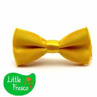 Little Fresco Dasi Kupu BowTie Slim Polos Anak Anak Kids YELLOW GOLD BOW TIE