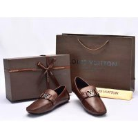 Sepatu Louis Vuitton Monte Carlo Moccasin Calf Leather Coklat SP73DS8-