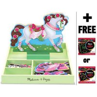 [macyskorea] My Horse Clover - Magnetic Dress Up Wooden Doll & Stand + FREE Melissa & Doug/6756617