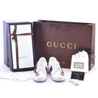 Sepatu Gucci Sneaker Ace Embroidered Leather Floral Putih SPS807-40