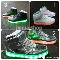 SEPATU ZUMBA LED/SHOES LED HIGH FOR LADOES