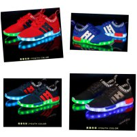 LED Shoes Import Termurah - Sepatu LED Dewasa Motif Hi - Slipon Lampu