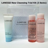 [100% Original Laneige] New Cleansing Trial Kit ( 3 Items ) / Pembersih muka & makeup terlaris Korea