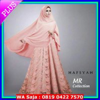 [Limited Offer] BAJU BUSANA MUSLIM GAMIS HAFSYAH SYARI MERAH HIT dress BRUKAT BERGO NO