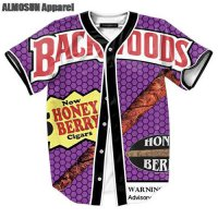 [globalbuy] ALMOSUN Backwoods Honey Berry Blunts Jersey All Over Print Baseball T-Shirt Su/4218857