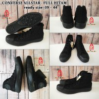 Sepatu Converse All Star Hight Full Hitam - Hitam, 42