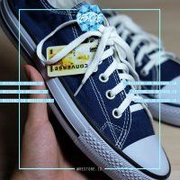 SEPATU CONVERSE ALL STAR NAVY GRADE ORI LOW - ukuran, 36
