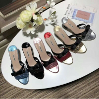 Miau miau heels black blue pink red silver and gold size 35-39